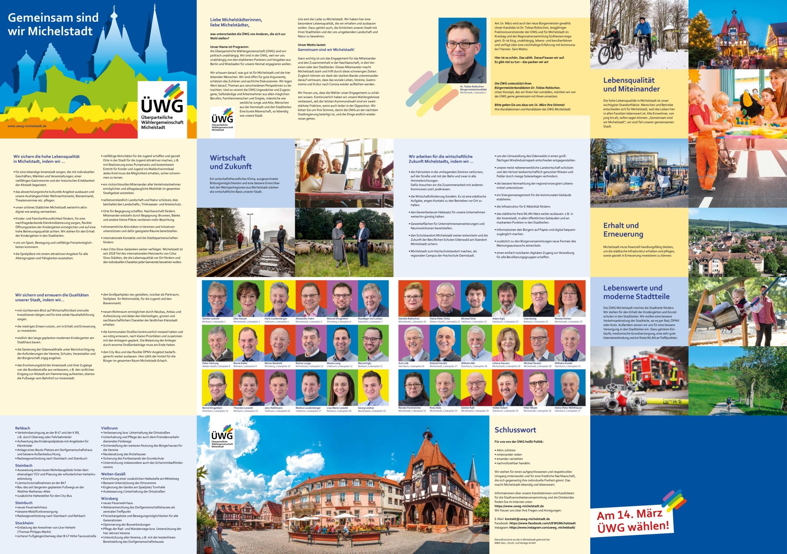 Unser Wahlprogramm und unsere Broschüre zur Kommunalwahl 2021